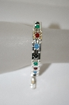 **MBA #19-337  Multi Gemstone Bead Sterling Bracelet