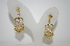 Gold Plated Clear  & Yellow CZ Heart Drop Earrings