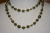 Majestic 2 Row Simulated Green Pearl Necklace