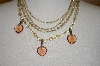 **MBA #19-144  Vintage Glass Bead Necklace Wth Removeable Hearts
