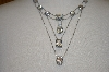 Sommers Multi Layered Clear CZ Sterling Necklace