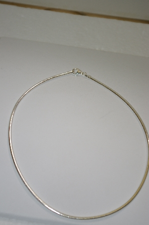 "**MBA #19-076A  Sterling 16"" Omega Necklace"