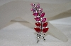 **MBA #19-091  Charles  Winston Shades Of Pink Leaf Pin