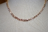 "+MBA #1-085  ""14K Gold Plated Pink CZ Tennis Necklace"