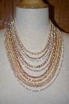 "+MBA #19-015   ""10 Strand Multi Colored Cultured Pearl Necklace"