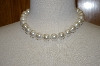 **MBA #19-563  Large White Glass Pearl Necklace