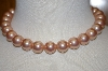 Lrage Pink Glass Pearl Necklace