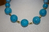 Large Turquoise Blue Acrylic Bead Necklace