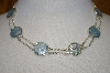 **MBA #19-574  Roman Glass Station Rolo Sterling Necklace