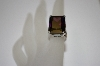 +MBA #19-531  Large Square Cut Purple CZ Sterling Ring