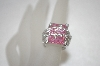 Charles Winston Fancy Pink & Clear CZ Ring