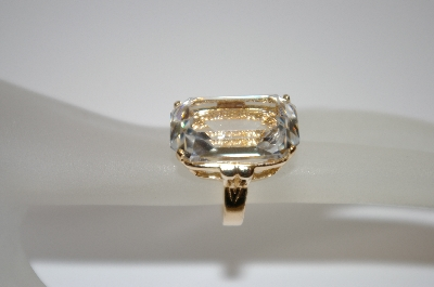 +MBA #19-538  Large Clear Square Cut CZ Ring