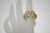 **MBA #19-032  Angelique De Paris Pale Yellow Resin & White Topaz Ring