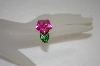 **MBA #19-018  Charles Winston Created Pink Sapphire Carved Flower Ring