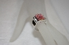 +MBA #19-056  Square Pink & Clear CZ Ring