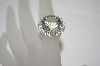 **MBA #19-630  14K White Gold Fancy Cut White Topaz Ring