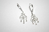**MBA #19-614  10K White Gold Diamond Scroll Earrings