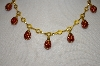 """SOLD"" Joan Rivers Red Lady Bug Necklace"