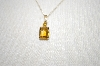 "** MBA #19-322  Small 14K Citrine Pendant With 18"" Chain"