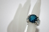 **MBA #19-507  Platinum Plated London Blue Topaz Ring