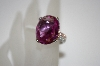 *MBA #19-502  Charles Winston Oval Cut Plum Sapphire CZ Ring