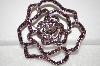 **MBA #19-267  Purple Crystal Rose Pin Pendant Combo