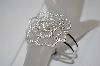 "MBA #19-448   ""Charles Winston Rose CZ Hinged Bangle Bracelet"