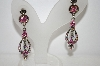Pink Crystal AB  Dangle Earrings