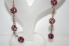 +MBA #19-178  Pink Crystal Ball Drop Earrings