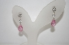 **MBA #19-180  Charles Winston Pink Briolette & Clear CZ Earrings