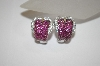 **MBA #19-598  Charles Winston Created Ruby Buckle Earrings