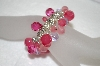 **MBA #20-661  Multi Shades Of Pink Acrylic Bead Stretch Bracelet