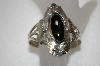 **MBA #20-703  Artist Signed Fancy Sterling & Black Onyx Cuff Bracelet