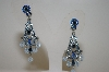Vintage Look Blue Crystal Earrings