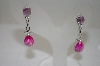 **MBA #20-552  Charles Winston Created Pink Sapphire & CZ Dangle Earrings