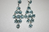 Fancy Aqua Blue Dangle Crystal Earrings