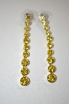 Nolan Miller Gold Plated Yellow CZ Earrings