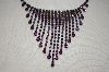 **MBA #20-591  Carol Collection Purple Austrian Crystal Necklace With Matching Earrings
