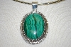 **MBA #20-709  Artist Signed Large Machalite Sterling  Pendant