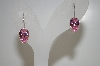 Sterling Set Pear Cut Pink Cz Earrings