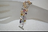**Charles Winston Three Strand Multi Colored CZ & Created Pearl Bracelet