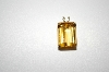"**MBA #20-470  14K Large Square Cut Citrine Pendant With 18"" Chain"