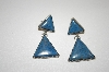 +MBA #20-439  Artist Signed Denim Lapis Sterling Earrings