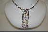 "**Charles Winston Multi Colored 16.75"" Created Pearl & CZ Necklace"
