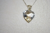 "**MBA #20-445  Designer IBB Sterling Carved Crystal Heart Pendant With 30"" Chain"