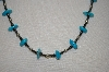 **MBA #20-227  Hand Strung Blue Turquoise, Hemalyke  & Sterling Bead Necklace