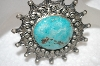 **MBA #20-267  Artist Signed Blue Turquoise Brooch
