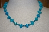 **MBA #20-123  Hand Strung Blue Turquoise Nugget & Bead Necklace