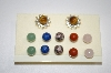 **MBA #20-172  6 Pairs Gemstone Earrings With Crystal Jacket