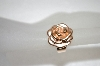**MBA #20-164 14K Rose Gold Satin & Polished Rose Ring